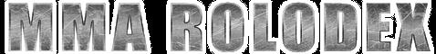 MMA Rolodex